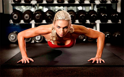 Flexão de Braço Push Up para queimar gordura nas costas